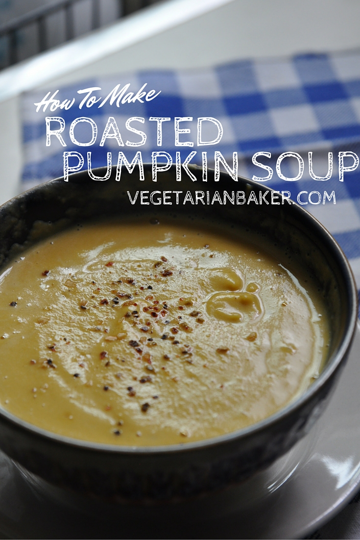 How To Make Roasted Pumpkin Soup | Fall Vegan Recipe