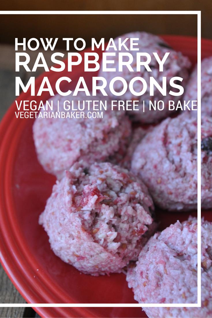 How To Make Raspberry Macaroons | Vegan, Gluten-Free, & No Bake