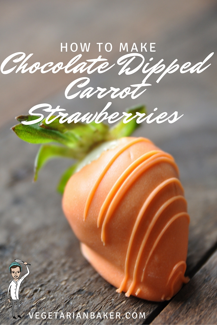 How To Make Chocolate Dipped Strawberry Carrots