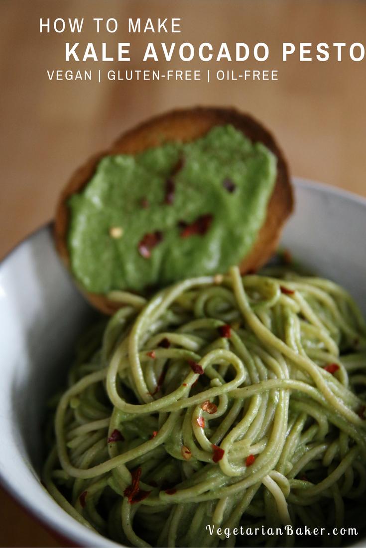 How To Make Vegan Kale Avocado Pesto | Gluten-Free & Oil-Free