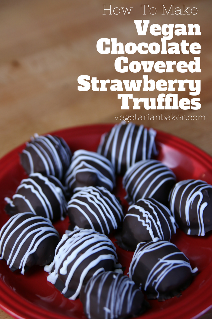 How To Make Vegan Chocolate Covered Strawberry Truffles | Valentine's Day Dessert
