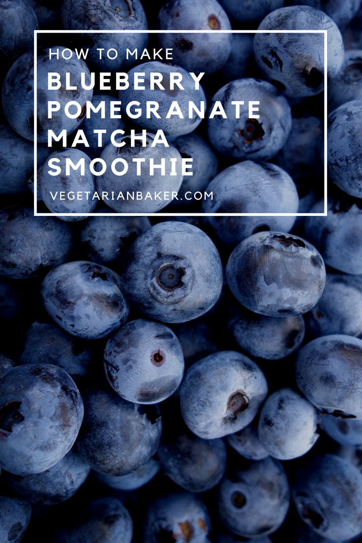 How To Make a Vegan Blueberry Pomegranate Matcha Smoothie