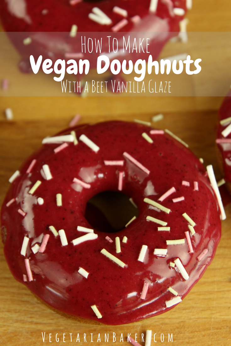 Homemade Vegan Doughnuts with Vanilla Beet Glaze | Baked & Oil Free